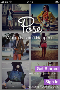 Pose app for iPhone