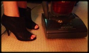 Step 4: Practice, practice, practice! Try doing the housework in your heels!