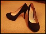 Gorgeous stilettos with killer platform. Heel height: 5 inches
