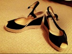 Cute peep toe wedges with ankle strap; perfect for summer!Heel height: 3 inches