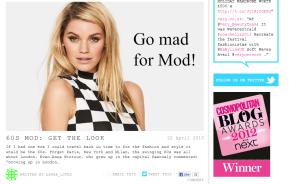 Screenshot of my first very blog - 60s Mod!