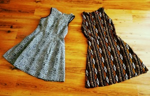 On the left is ananimal print by Oais and on the right is a patterned Dorothy Perkins number from one of their external labels.