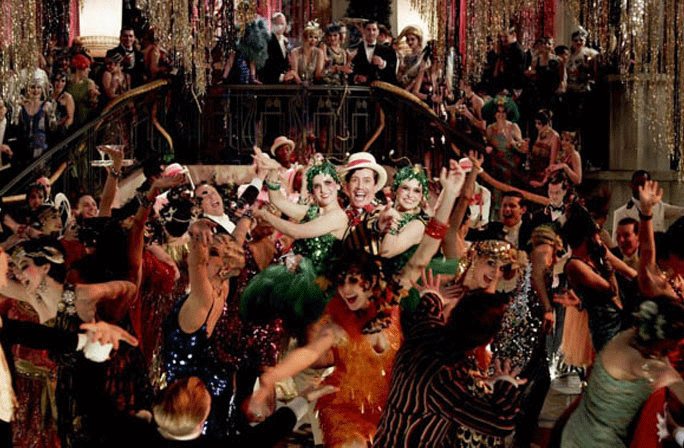 Fun flappers having a ball at Gatsby's mansion Image from www.aceshowbiz.com