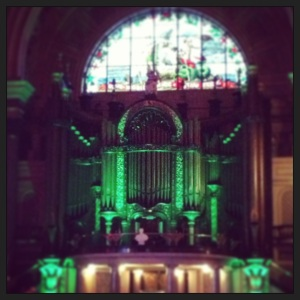 The beautiful St Georges Hall all lit up!
