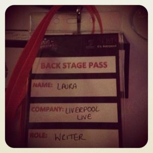 My Backstage Pass!