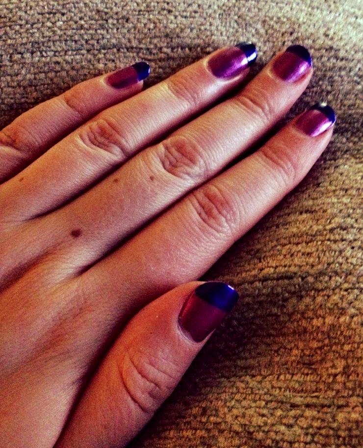 Purple tip Nails Inc